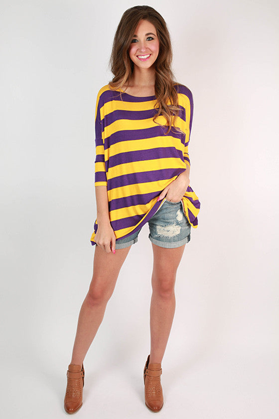 Southern Stripes Top in Purple