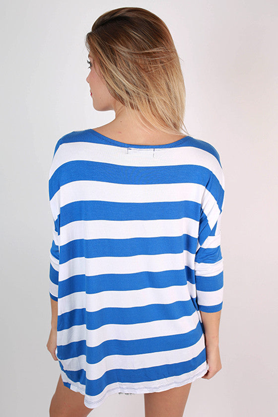 Southern Stripes Top in Blue
