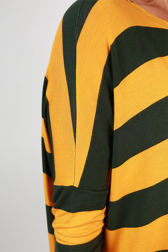 Southern Stripes Top in Hunter Green