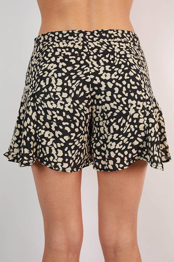 Cheetah Divine Shorts in Navy