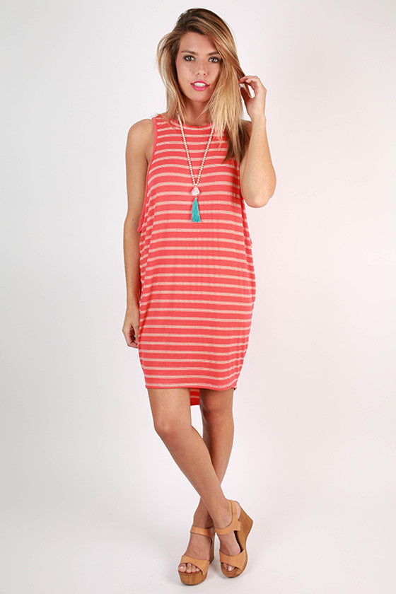 As Good as it Gets Tank Dress in Tangerine