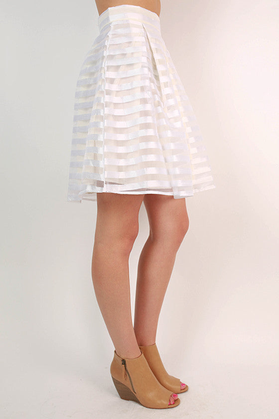 Twist & Twirl Skirt in White