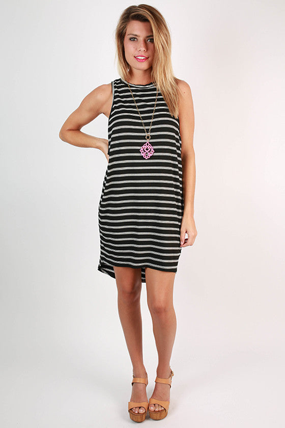 As Good as it Gets Tank Dress in Black
