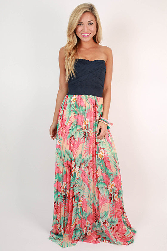 Patio Happy Hour Maxi Dress in Navy