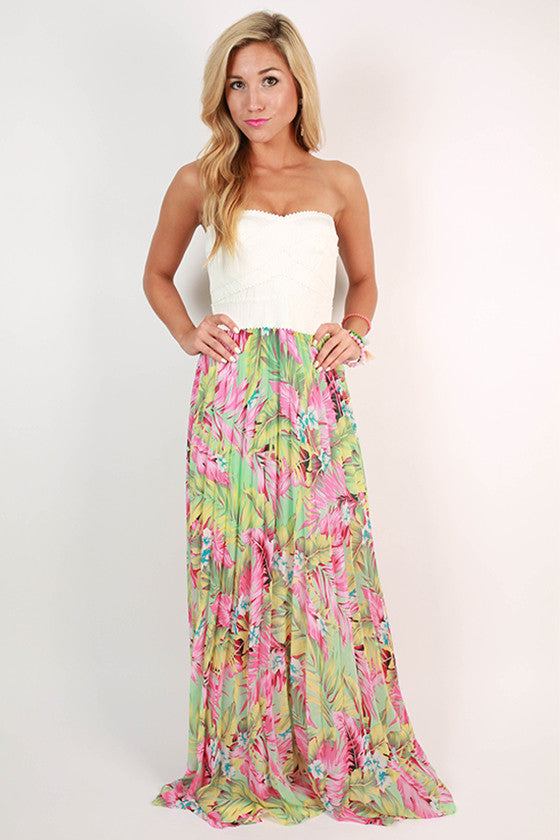 Patio Happy Hour Maxi Dress in Ivory
