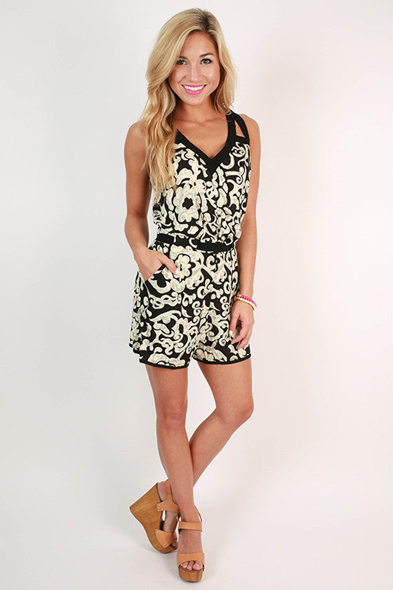 Short Story Contrast Romper