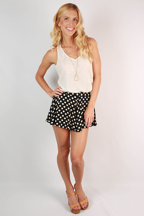 The After Party Dot Shorts in Navy