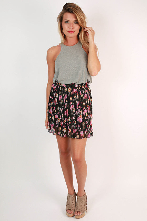 Floral Fate Mini Skirt