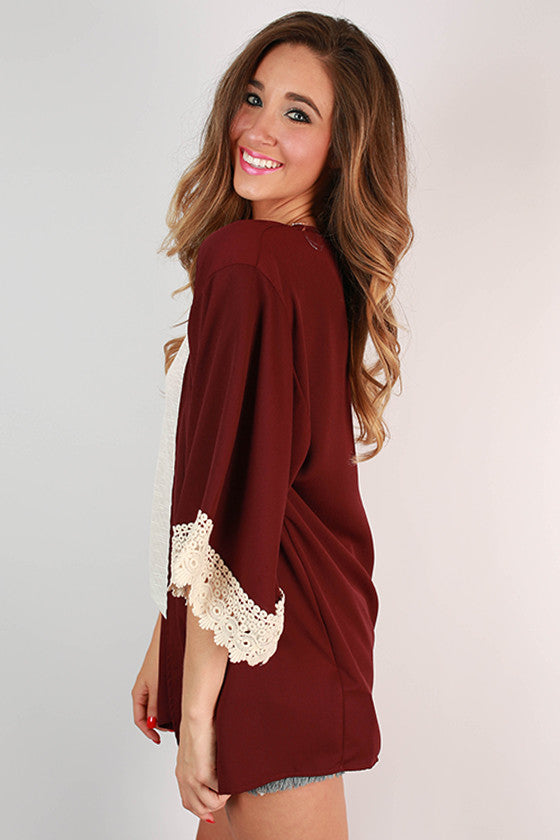 Cheers To Us Overlay in Maroon