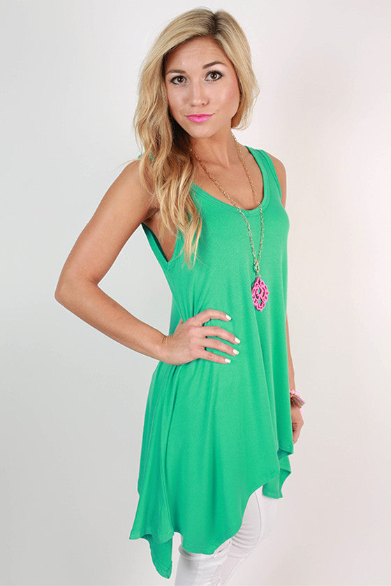 The Elle Swing Tank in Turquoise