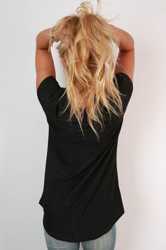The Jack Boyfriend Tee in Black