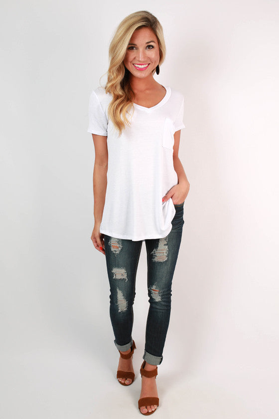 The Jack Boyfriend Tee in White