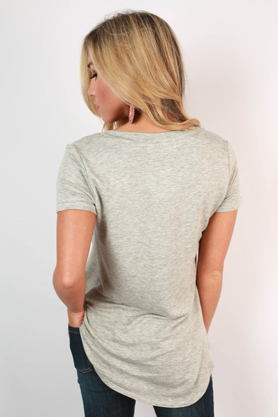 The Jack Boyfriend Tee in Grey