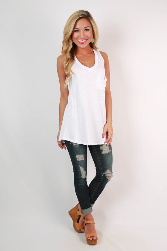 The Jack Boyfriend Tank in White
