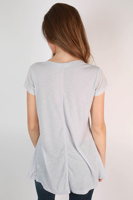 Go With The Flow V-Neck Tee in Light Lavender