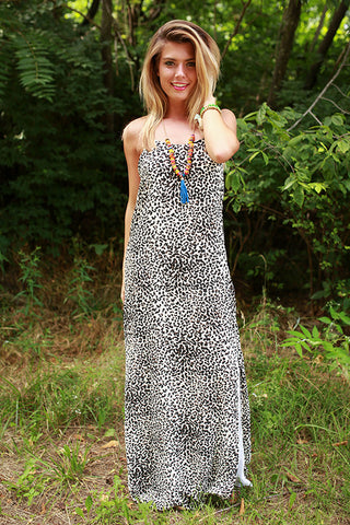 Modern Beauty Cheetah Print Maxi Dress