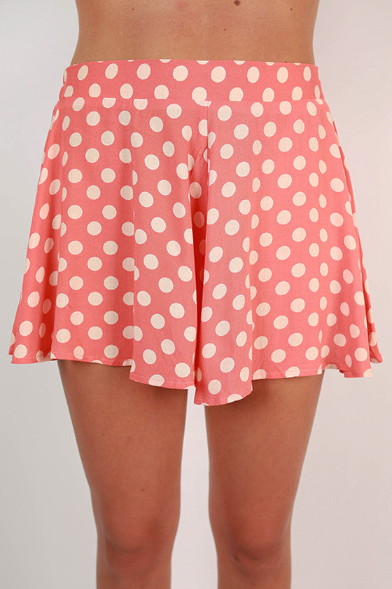 The After Party Dot Shorts in Coral