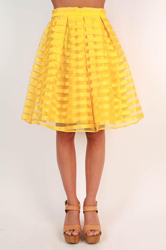Twist & Twirl Skirt in Marigold