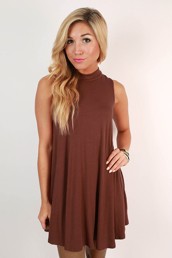 First Class Flight Tank Dress in Maroon