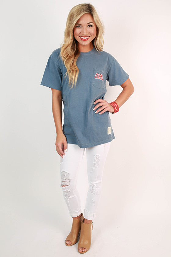 Ole Miss Unisex Comfort Color Pocket Tee