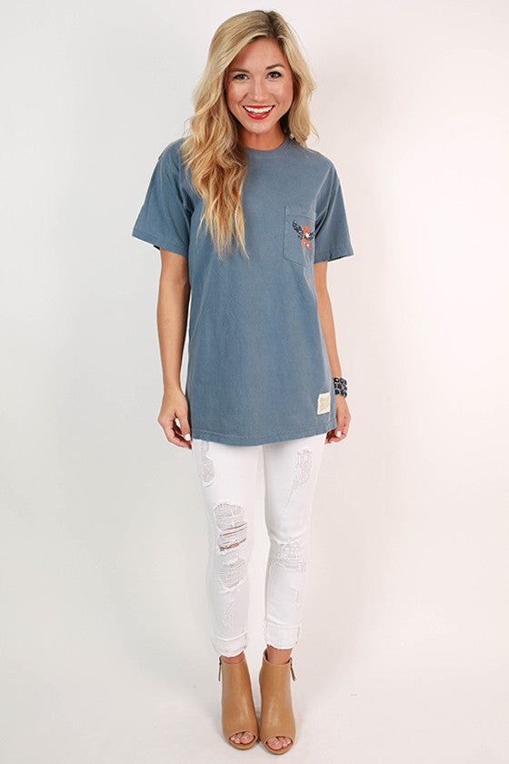 Auburn University Unisex Comfort Color Pocket Tee