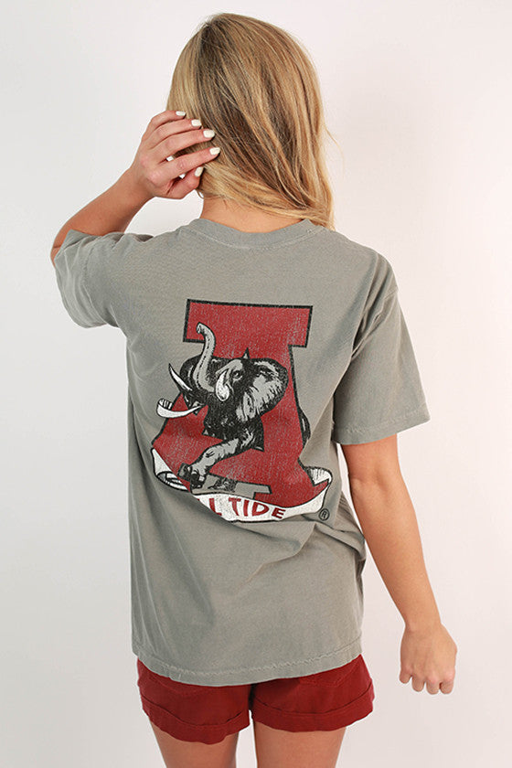 University of Alabama Unisex Comfort Color Pocket Tee