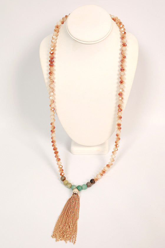 Something Southern Tassel Necklace in Caramel