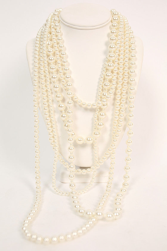 Manhattan Pearls Layered Necklace