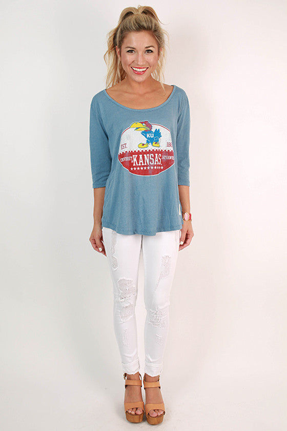 University of Kansas Boyfriend Tee