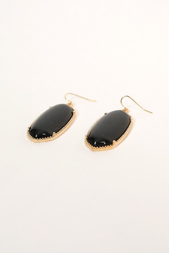 Baby You're Classic Dangle Earrings in Black