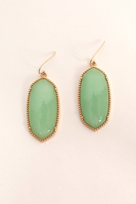 Baby You're Classic Dangle Earrings in Mint