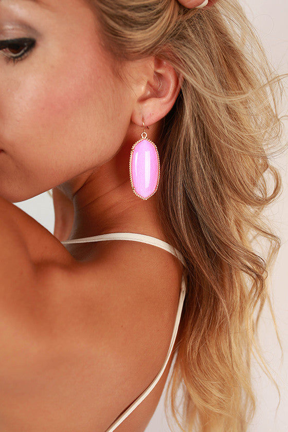 Baby You're Classic Dangle Earrings in Pink