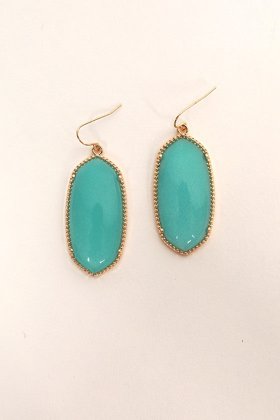 Baby You're Classic Dangle Earrings in Turquoise