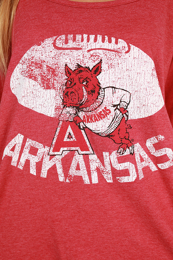 University of Arkansas Boyfriend Tee