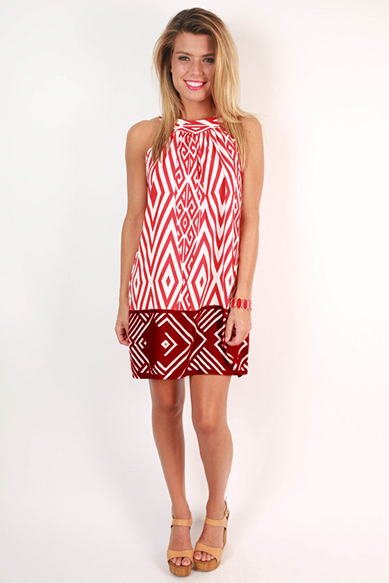 Sangria Sipping in Greece Shift Dress