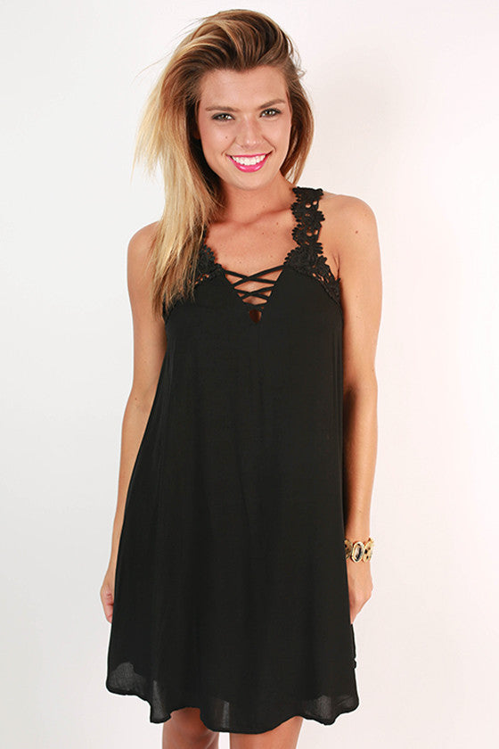 Wanderlust Romance Dress in Black