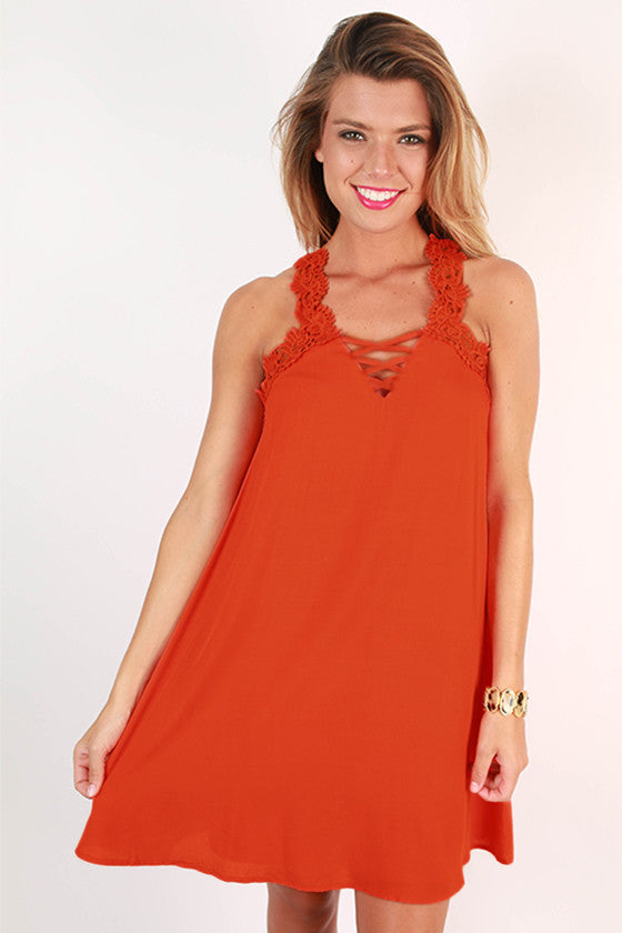 Wanderlust Romance Dress in Tangerine