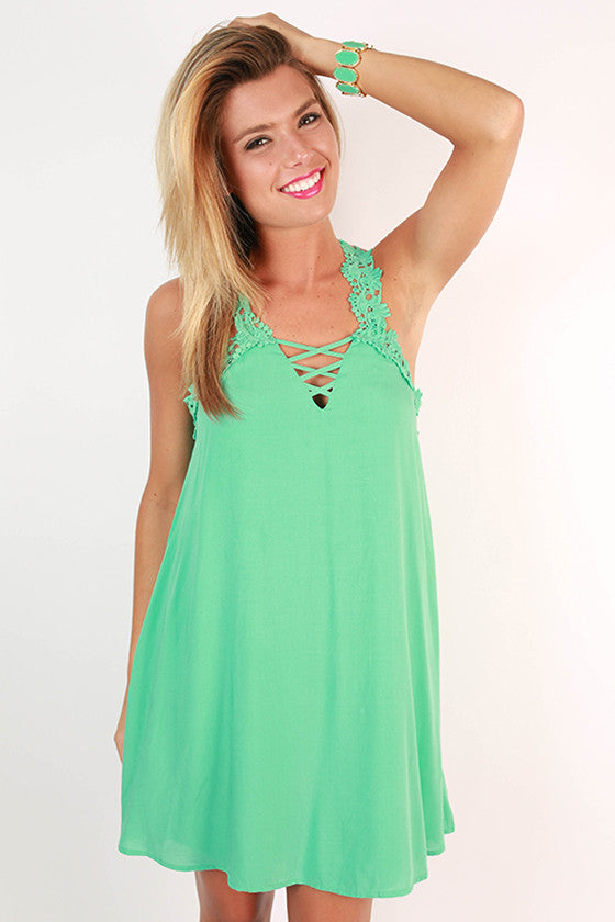 Wanderlust Romance Dress in Aqua Sky