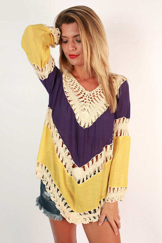 Sweet South Crochet Top in Yellow