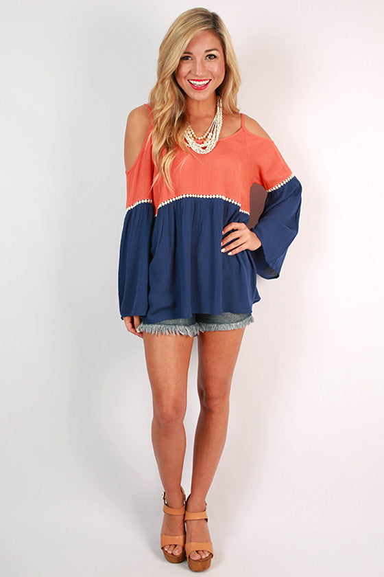Playing The Field Tunic in Navy