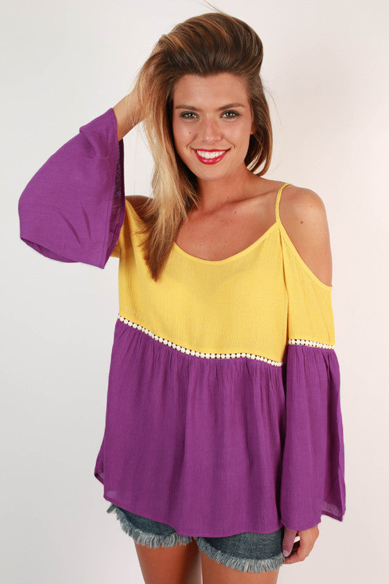 Playing The Field Tunic in Royal Lilac