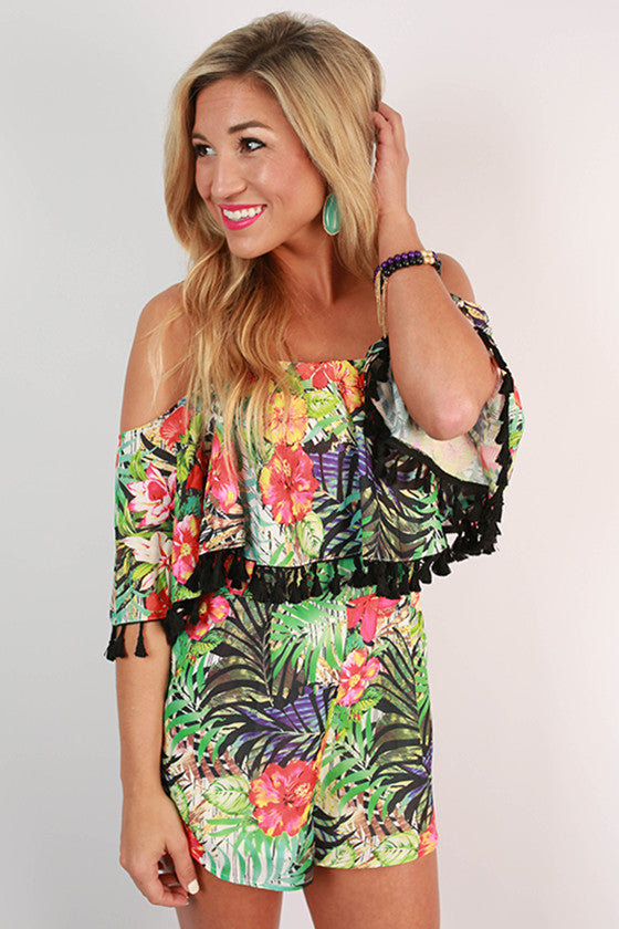 Twist & Kiss Floral Romper