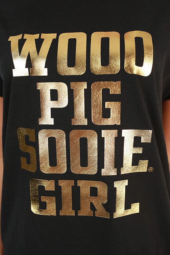 Distressed Woo Pig Sooie Girl Tee