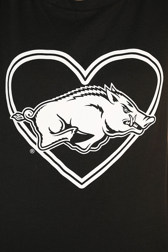 Hog in Heart Boyfriend Tank