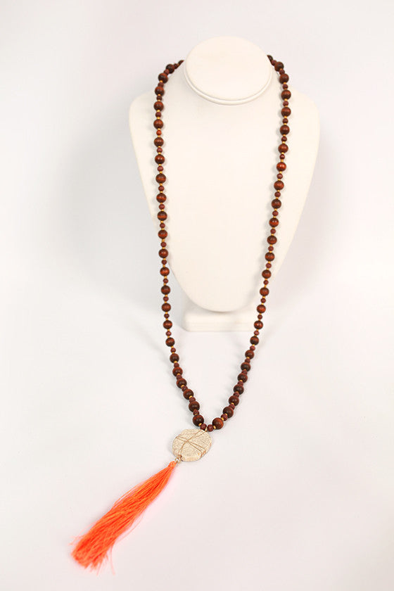 Jewel of the Sea Necklace in Chestnut