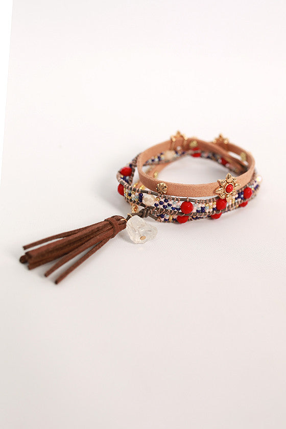 Daydreamer Divine Wrap Bracelet in Tan