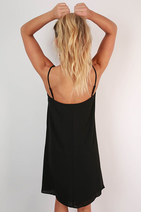 Paris After Midnight Shift Dress in Black