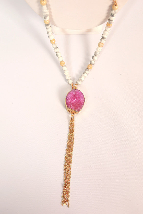 Making Memories Tassel Necklace in Orchid