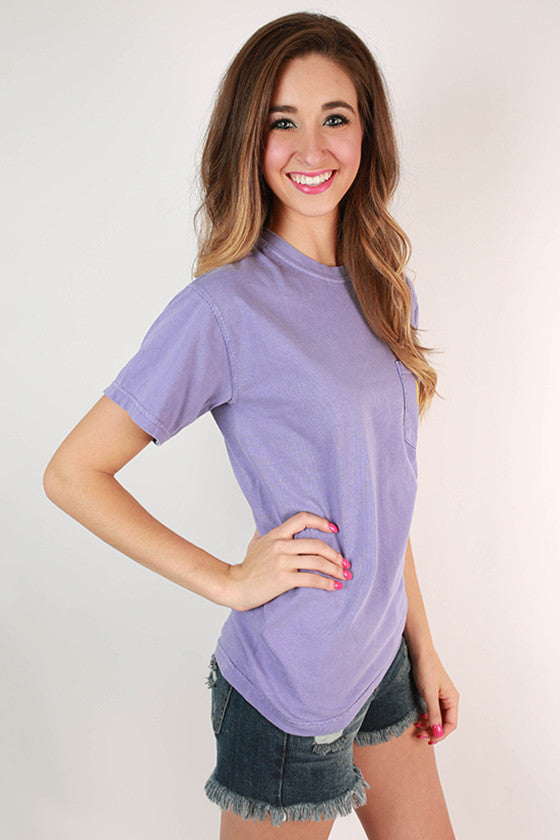 Louisiana State University Unisex Comfort Color Pocket Tee