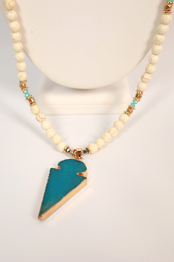 Natural Beauty Necklace in Blue